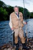 Salmon fisherman Royalty Free Stock Photography