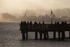 Salmon Fishermen sur Elliott Bay à Seattle, Washington Photographie stock