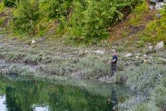 Salmon Fishing in Anchorage Alaska Royalty Free Stock Photos