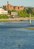 Salmon fishing in the River Ness. stock image