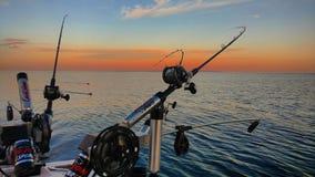 Salmon Fishing Rods e bobine immagine stock