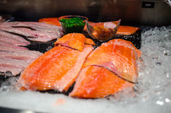 Salmon at the fishmarket Stock Photography