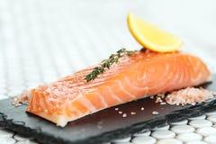 Salmon. Food. Delicious slice of salmon royalty free stock photos