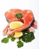 Salmon. Fresh raw salmon red fish steak. Royalty Free Stock Photo