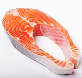 Salmon. Fresh raw salmon red fish steak. Royalty Free Stock Image
