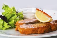 Salmon with fresh salad Royalty Free Stock Photo