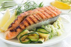Salmon fried. Royalty Free Stock Photography