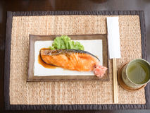 Salmon fried Stock Photos