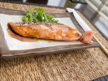 Salmon fried Royalty Free Stock Images