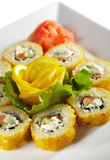 Salmon Fried Roll Royalty Free Stock Photography