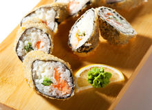Salmon Fried Roll Royalty Free Stock Photos