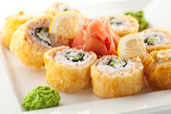 Salmon Fried Roll Royalty Free Stock Photo