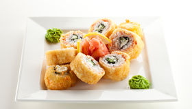 Salmon Fried Roll Stock Photo