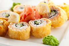 Salmon Fried Roll Stock Images