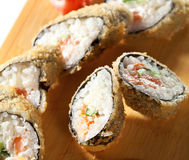 Salmon Fried Roll Stock Photos