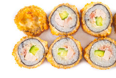 Salmon Fried Sushi Stock Photo