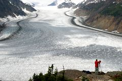 Salmon glacier. The big salmon glacier, Stewart & Hyder, on the border of Canada and Alaska, North America Stock Photo
