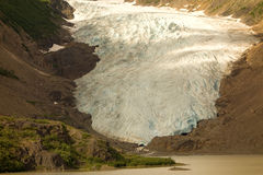 The salmon glacier at hyder Royalty Free Stock Photos