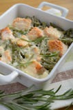Salmon gratin Stock Photos
