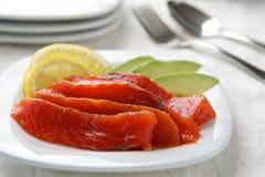 Salmon Gravlax selvaggio Fotografie Stock