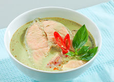 Salmon green curry isolated  Stock Image