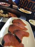 Salmon Grill fotografia stock