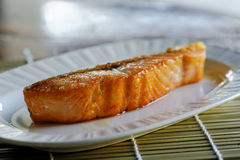 Salmon Grill. It delicious Stock Images