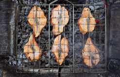 Salmon a grill Royalty Free Stock Images