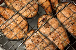 Salmon a grill Stock Image