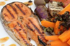 Salmon Grilled Stock Image