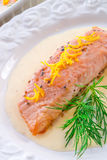Salmon grilled with dill Royalty Free Stock Photo