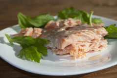 Salmon grilled fillet Stock Photo