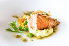 Salmon grilled Royalty Free Stock Photo