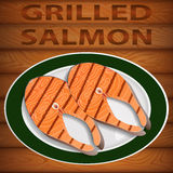 SALMON GRILLED Stock Photography
