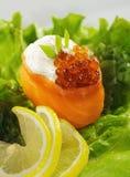 Salmon Gunkan Sushi Stock Photos
