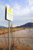 Salmon Habitat Sign Images libres de droits