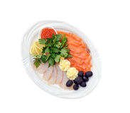 Salmon and halibut fillet Royalty Free Stock Images