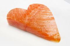 Salmon heart Royalty Free Stock Image