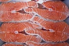 Salmon on ice Stock Photo