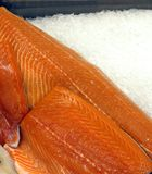Salmon on Ice Stock Photo