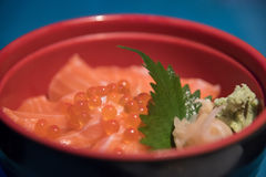 Salmon Ikura Don Stock Photo