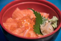 Salmon Ikura Don Royalty Free Stock Photo