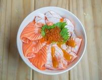 Salmon Ikura Don Royalty Free Stock Photos