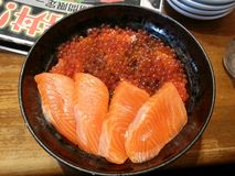 Salmon ikura don, Japanese food, Japan Royalty Free Stock Photos
