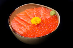 Salmon ikura don Stock Photography