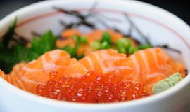 Salmon with Ikura Royalty Free Stock Photos