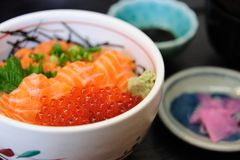 Salmon with Ikura Stock Images