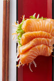 Salmon in japan style Royalty Free Stock Photography
