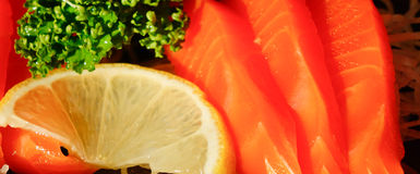 Salmon - Japanese food Royalty Free Stock Photography