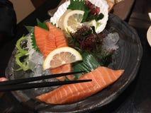 Salmon Japanese mat Royaltyfria Foton
